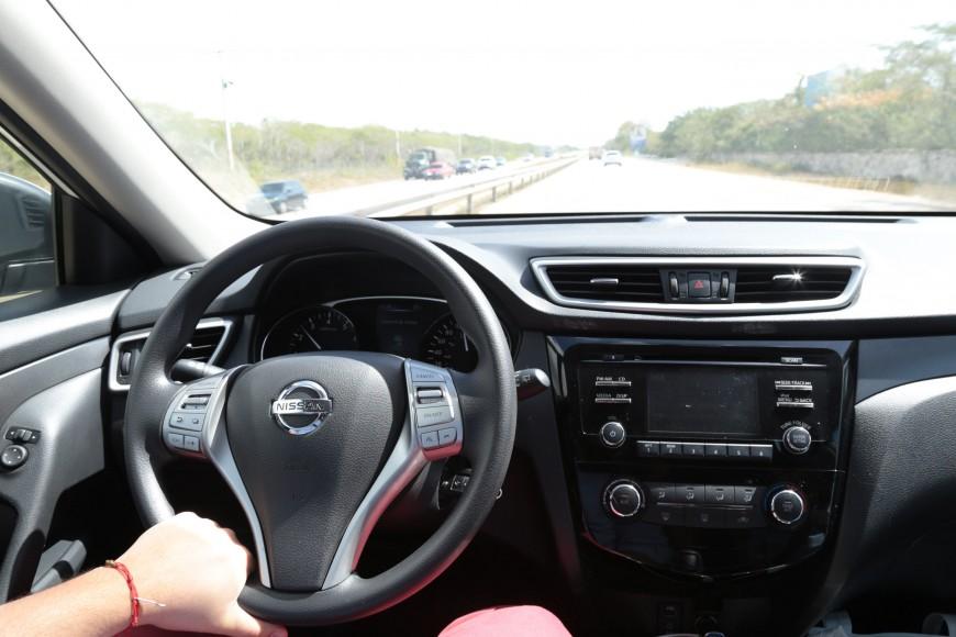Abordo de la Nissan XTrail