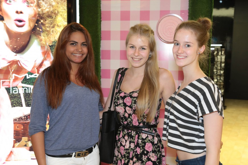 Maria Camacho, Nina Kampert y Lucia Macho