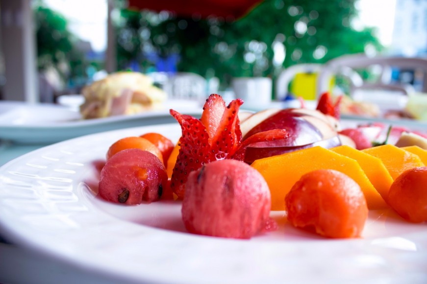 Plato de frutas de Minas