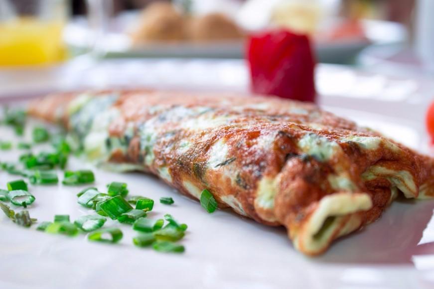 Una versión del omelette de Minas