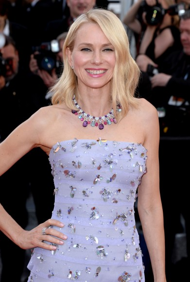 CANNES, FRANCE - MAY 11:  Naomi Watts attends the 'Cafe Society' premiere and the Opening Night Gala during the 69th annual Cannes Film Festival at the Palais des Festivals on May 11, 2016 in Cannes, France.  (Photo by Anthony Harvey/FilmMagic)