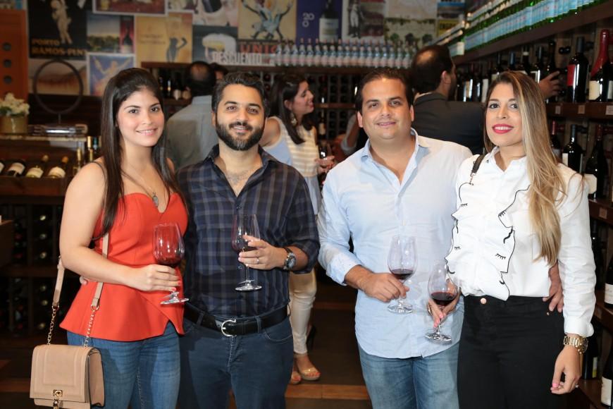 5 Gaby Rodríguez, Elias Barnichta, Franz Vicini y Ginna Fernández