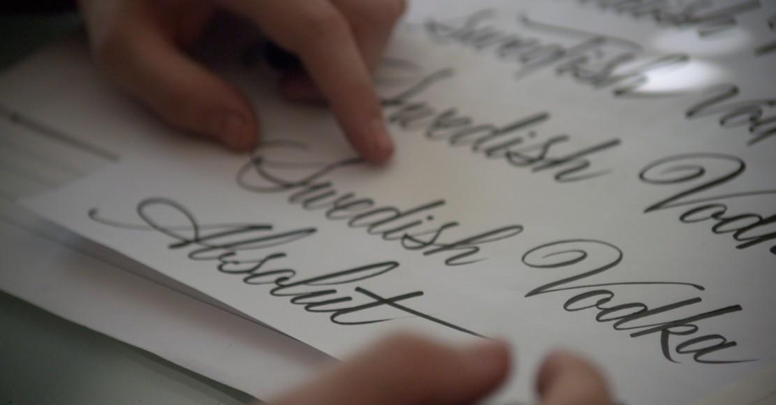 PRESS Luca Barcellona fue el encargado de crear un nuevo tipo de letra, único, sólo para Absolut