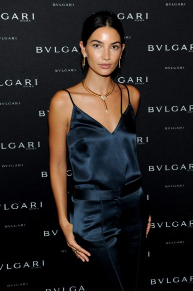 NEW YORK, NY - SEPTEMBER 12:  Lily Aldridge attends the Bulgari 2016/2017 International Campaign Muse announcement on September 12, 2016 in New York City.  (Photo by Craig Barritt/Getty Images for Bulgari)
