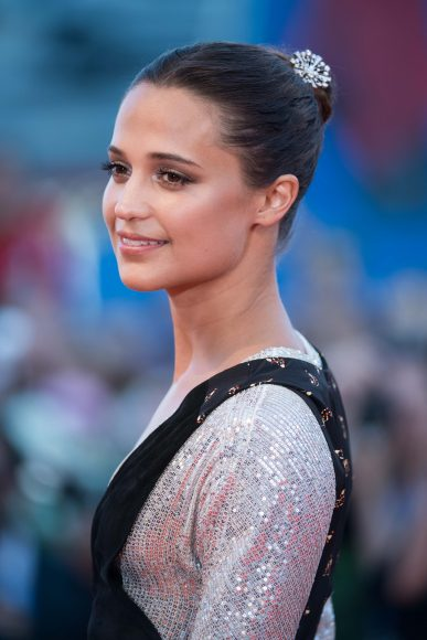 VENICE, ITALY - SEPTEMBER 01:  Actress Alicia Vikander attends the premiere of 'The Light Between Oceans' during the 73rd Venice Film Festival at Sala Grande on September 2, 2016 in Venice, Italy.  (Photo by Ian Gavan/Getty Images)