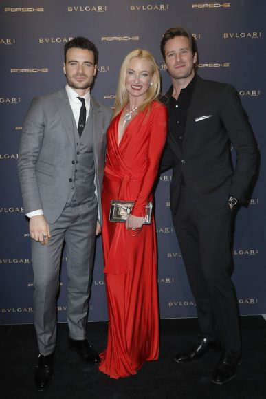 BERLIN, GERMANY - FEBRUARY 09:  Giulio Berrutti, Armie Hammer and Lilly Sayn-Wittgenstein-Berleburg attend the Bulgari 'Night of the Legend' event during the 67th Berlinale International Film Festival on February 9, 2017 in Berlin, Germany.  (Photo by Franziska Krug/Getty Images for Bulgari) *** Local Caption *** Giulio Berrutti, Armie Hammer, Lilly Sayn-Wittgenstein-Berleburg