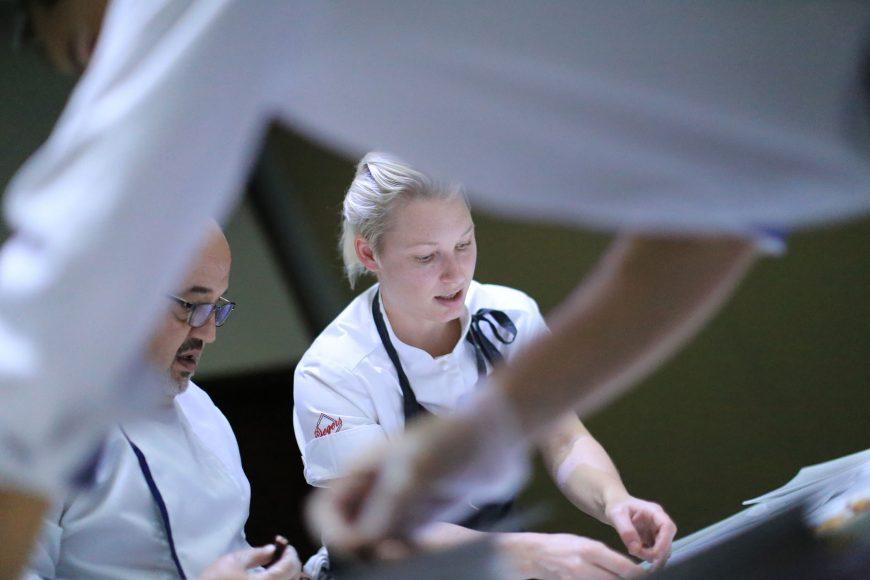 Emma Bengtsson, en pleno trabajo (2)