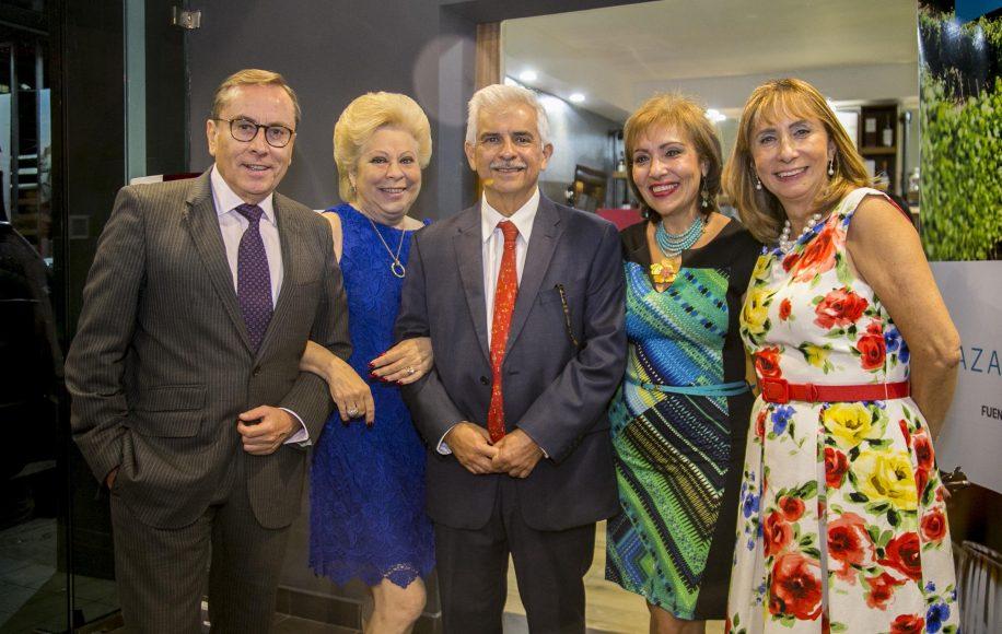 4 Embajador de Mexico, Juan Carlos Tirado_ Amalia de Tejada, Mario Dehesa, Rosa Maria Nadal y Araceli Azuara, representante de la OEA.