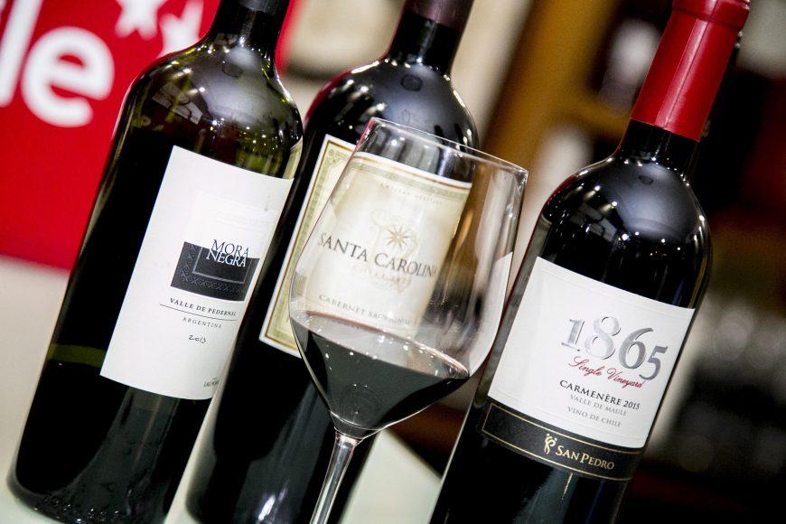 Algunos de los vinos en oferta
