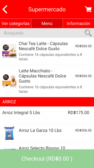 Opciones Supermercados