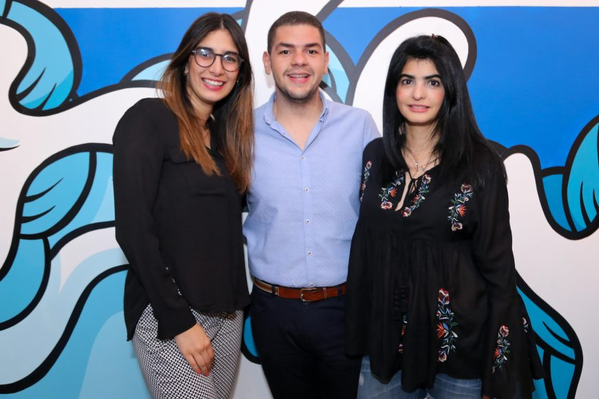 7. Yamile Hazim, Francisco Gómez y Carolina Guisande
