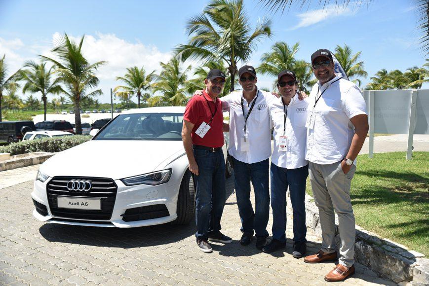 Belarminio Morel, Alexander Gutiérrez, Benjamín Paiewonsky y Carlos Morel.