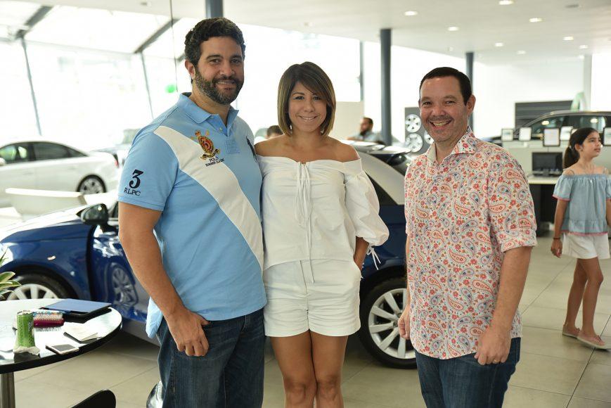 Claudio Mejía, Patricia Marcano y Elulalio Peralta.