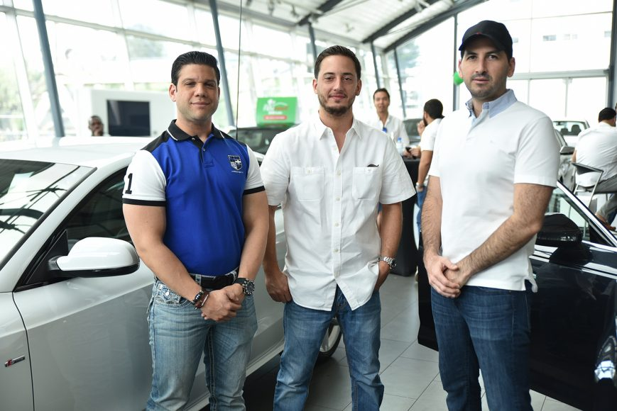 Jesús Tiburcio, Enriquillo Rivas y Jorge Gobaira.