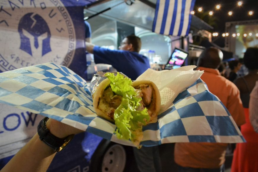 Souvlaki de Pollo de Stavrous Greek Food Truck