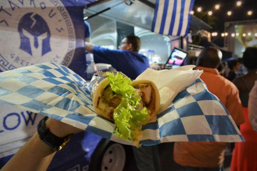 Souvlaki de Pollo de Stavrous Greek Food Truck