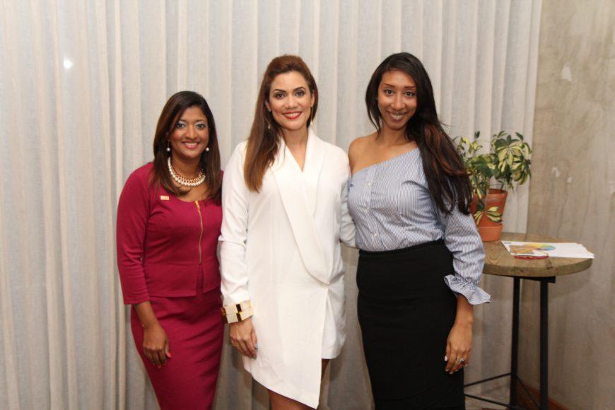 Tanzania Reynoso, Sarah Despradel y Milagros Fernandez