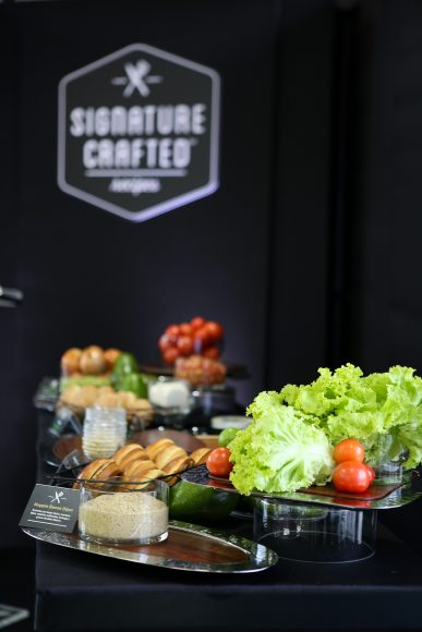 Food Styling con ingredientes del Signature Crafted