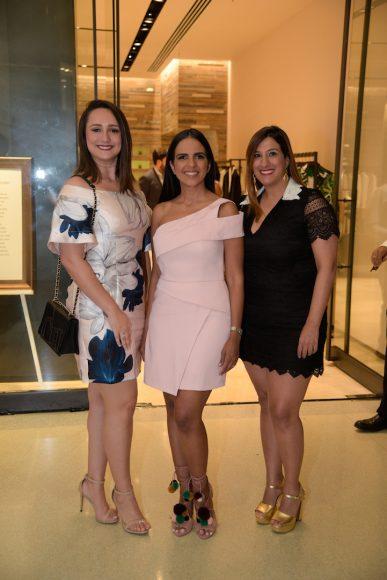 María Gabriela Mendoza, Janis Santaella y Laura Fernández