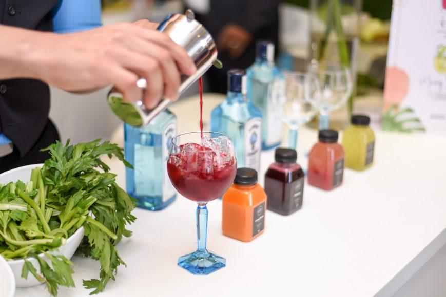 Bombay Sapphire juicy cocktails