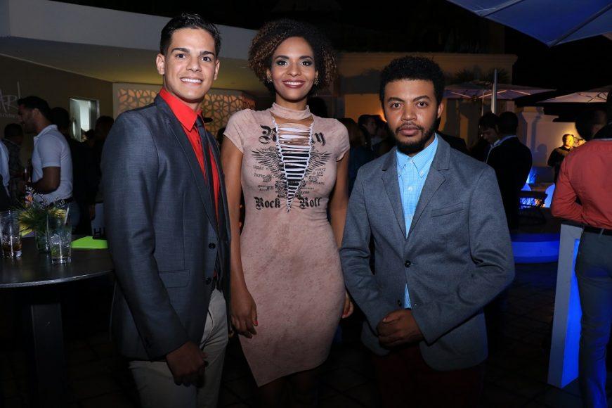 Gustavo Victoria, Scarlette Hernandez y Miguel Santana