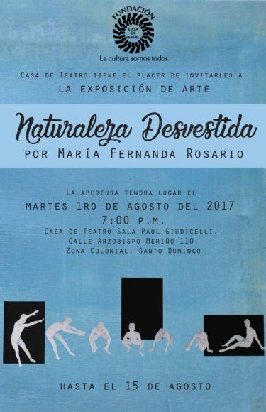 Invitación Exposición Naturaleza Desvestida Casa de Teatro 2017