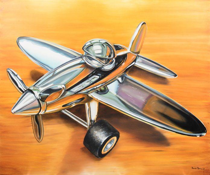 Obra titulada Avión, de la artista Pamela Rivera