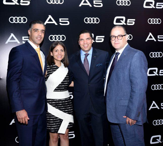 1. (Principal) Alexander Gutiérrez, Carla Frías, Benjamín Paiewonsky y Gabino Martínez.