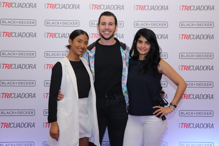3. Karla Lora, Juan Luis Minaya y Carolina Guisande