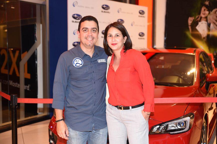 Esteban Piola y Giselle Guzmán.