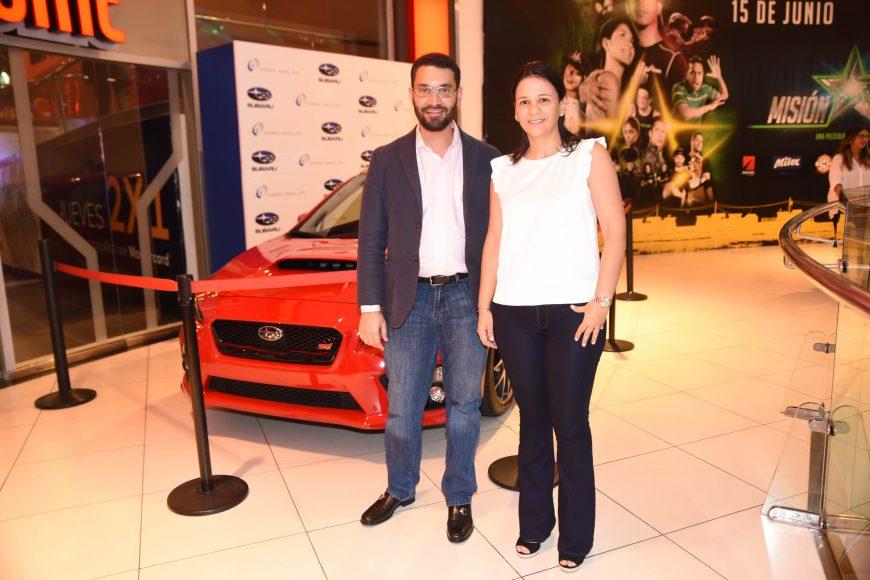 Juan Andrés Frías y Jenifer Jorge.