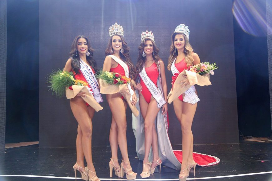 Zaidy Bello Miss Quisqueya, Yeisi Rodriguez Miss Continente, Carmen Muñoz Miss Republica Dominicaba Universo y Litza Alvarez Miss Hispanoamerica 1