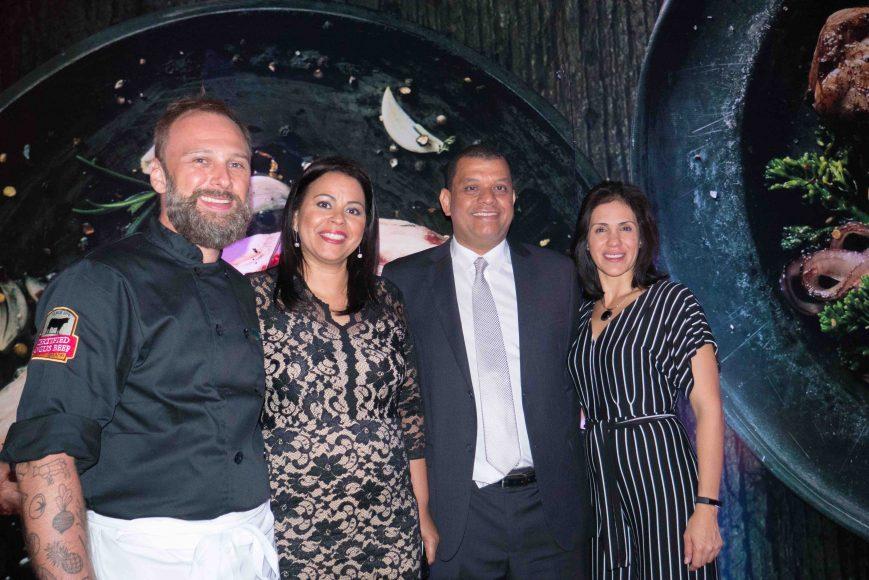 14.Chef Henry Horne, Isis Báez, Pedro Báez, Ivette Cortés