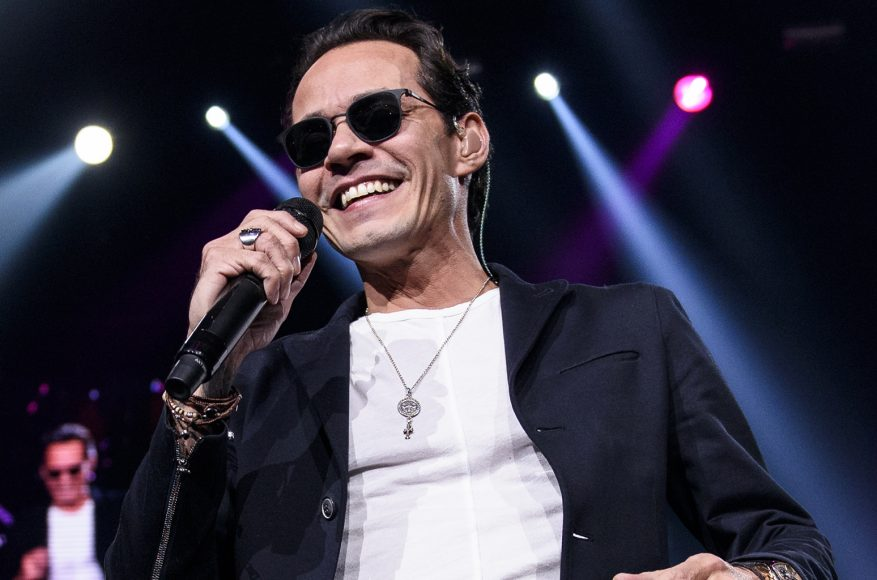 NEWARK, NJ - FEBRUARY 13:  Singer Marc Anthony performs live on stage at Prudential Center on February 13, 2016 in Newark, New Jersey.  (Photo by Matthew Eisman/WireImage)