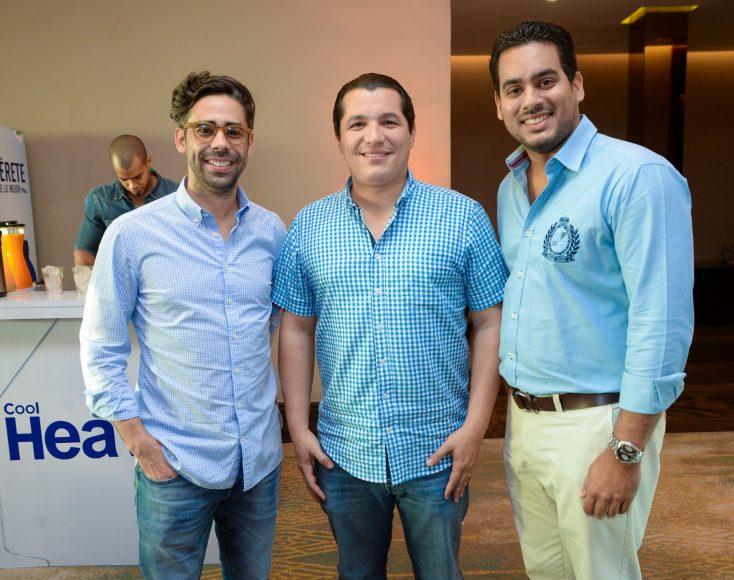 7-Joel Trigo, Francisco de la Cruz, Héctor Antigua