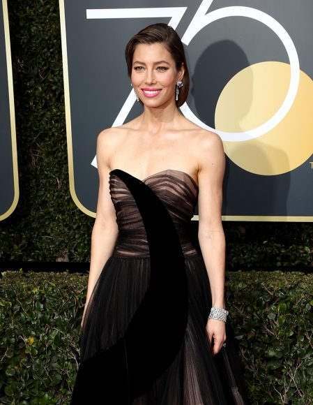 BEVERLY HILLS, CA - JANUARY 07:  Actor Jessica Biel attends The 75th Annual Golden Globe Awards at The Beverly Hilton Hotel on January 7, 2018 in Beverly Hills, California.  (Photo by Frederick M. Brown/Getty Images)