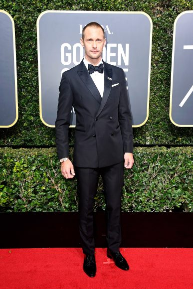 BEVERLY HILLS, CA - JANUARY 07:  Actor Alexander Skarsgard attends The 75th Annual Golden Globe Awards at The Beverly Hilton Hotel on January 7, 2018 in Beverly Hills, California.  (Photo by Frazer Harrison/Getty Images)