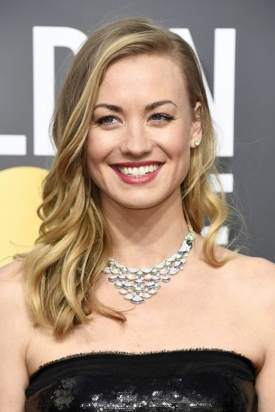 BEVERLY HILLS, CA - JANUARY 07:  Actor Yvonne Strahovski attends The 75th Annual Golden Globe Awards at The Beverly Hilton Hotel on January 7, 2018 in Beverly Hills, California.  (Photo by Frazer Harrison/Getty Images)