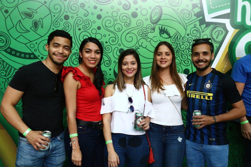 8. Alcides González, Lorely Rodríguez, Laura Guzmán, Raquel Henríquez y Daniel Mejía