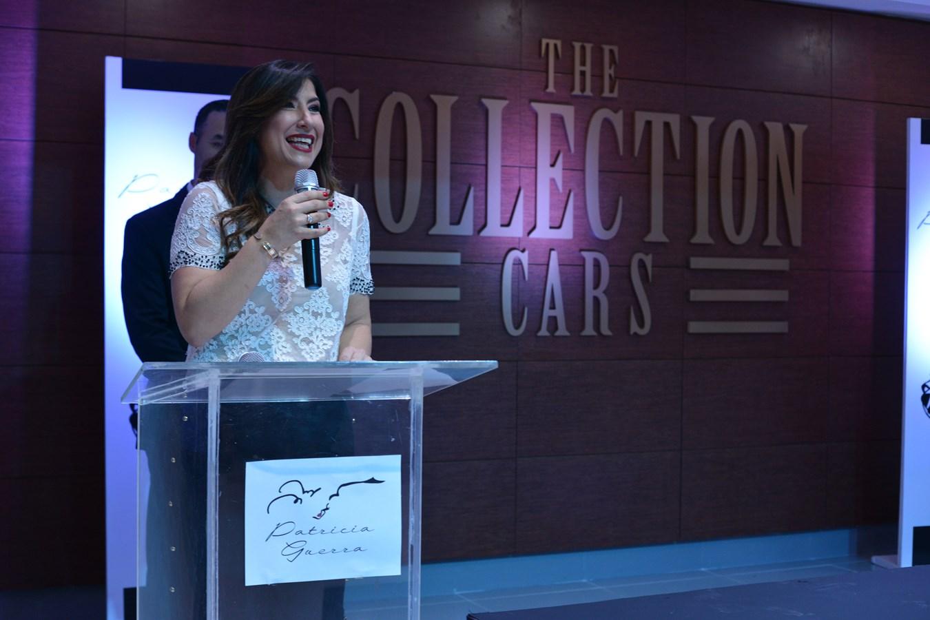 La señora Patricia Guerra en la presentacion de la colección