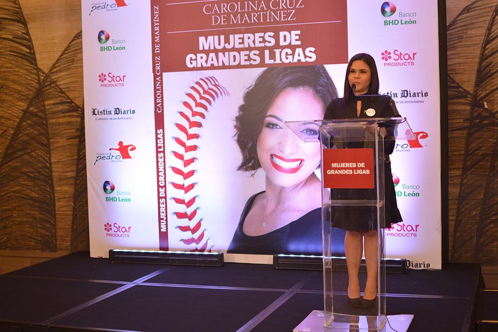 Perla de Los Santos. Coordinadora de programas de la Fundación Pedro Martínez