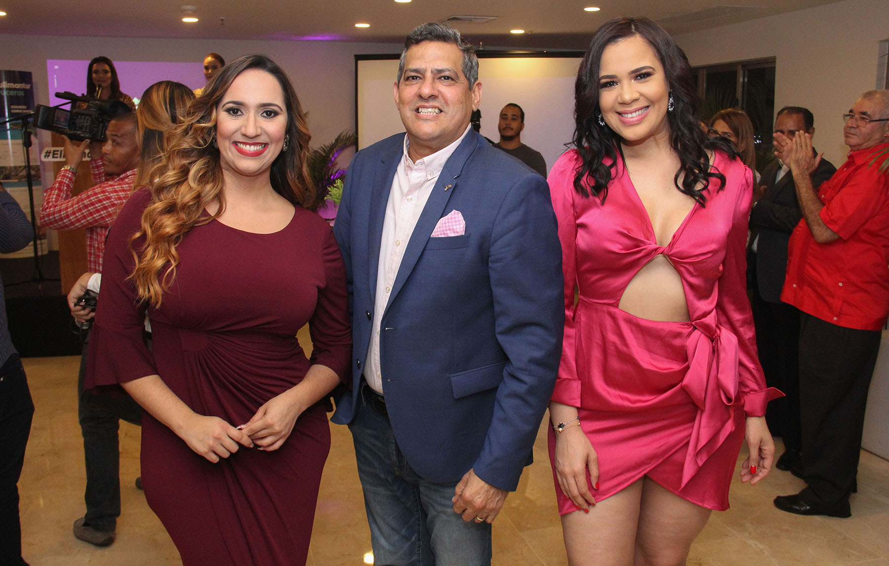 Rafelina Bisono, Raymundo Ortiz y Gloribel Perez