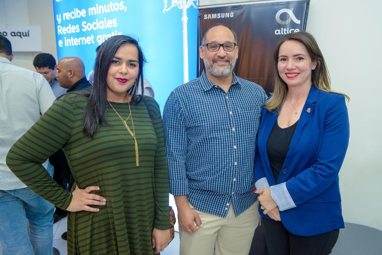 13. Naysa Dumé, Hipólito Delgado y Giselle Ramirez