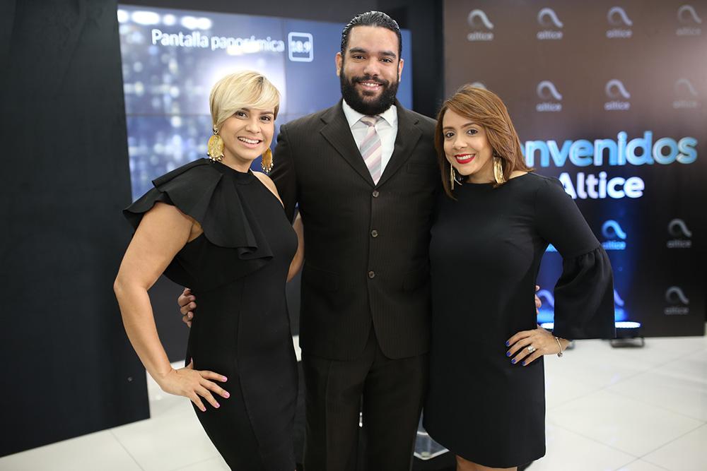 8. Gisselle Concha, Juan Ogando y Natividad Ramos