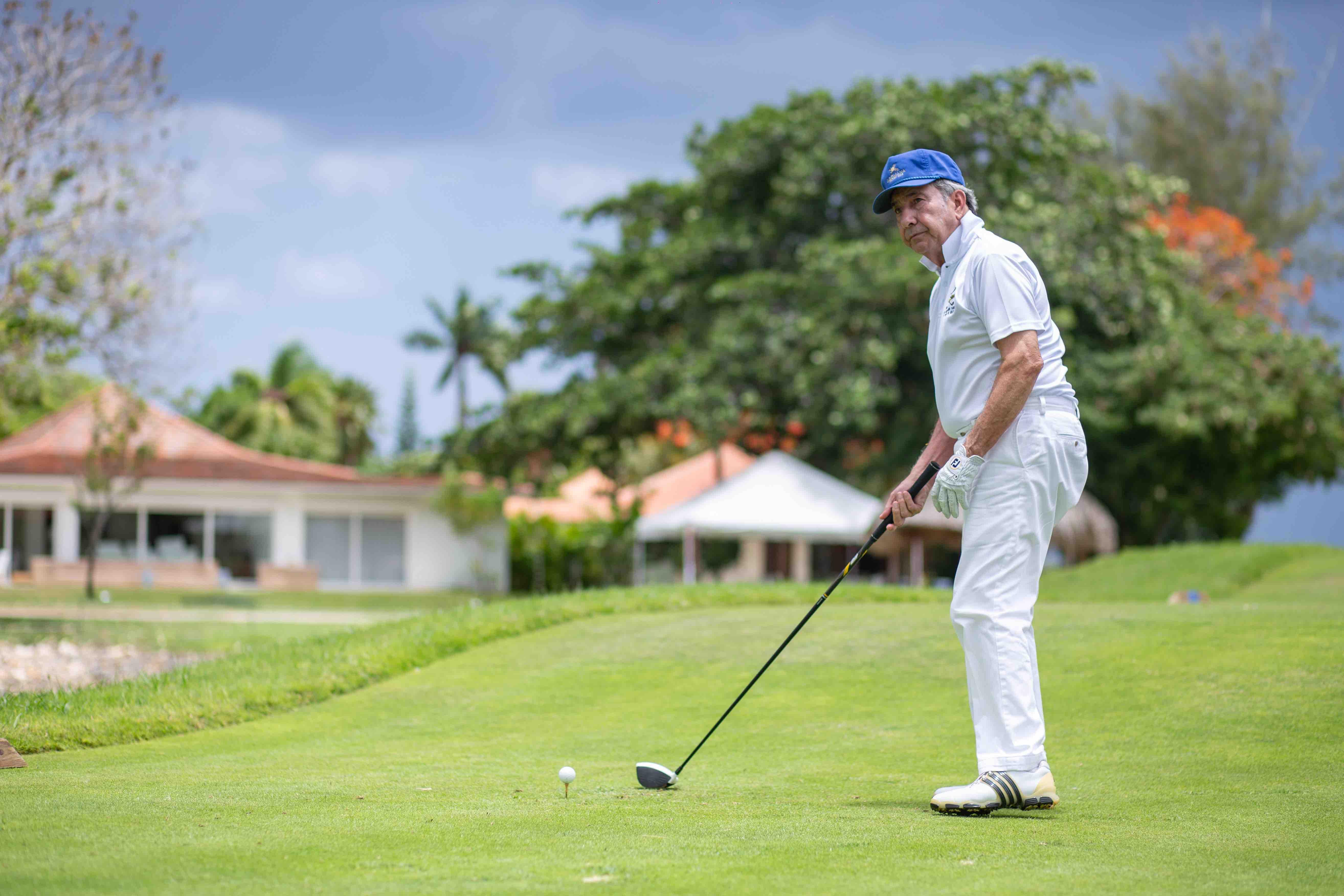 Alfonso Paniagua en el torneo de golf