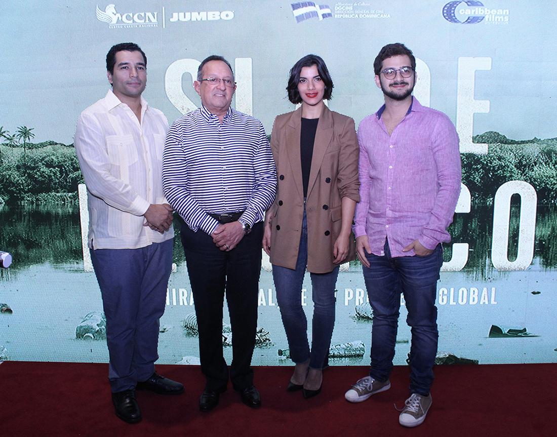 Johan Gonzáles, Ministro de Medio Ambiente Angel Estevéz, Nashla Bogaert, José Maria Cabral