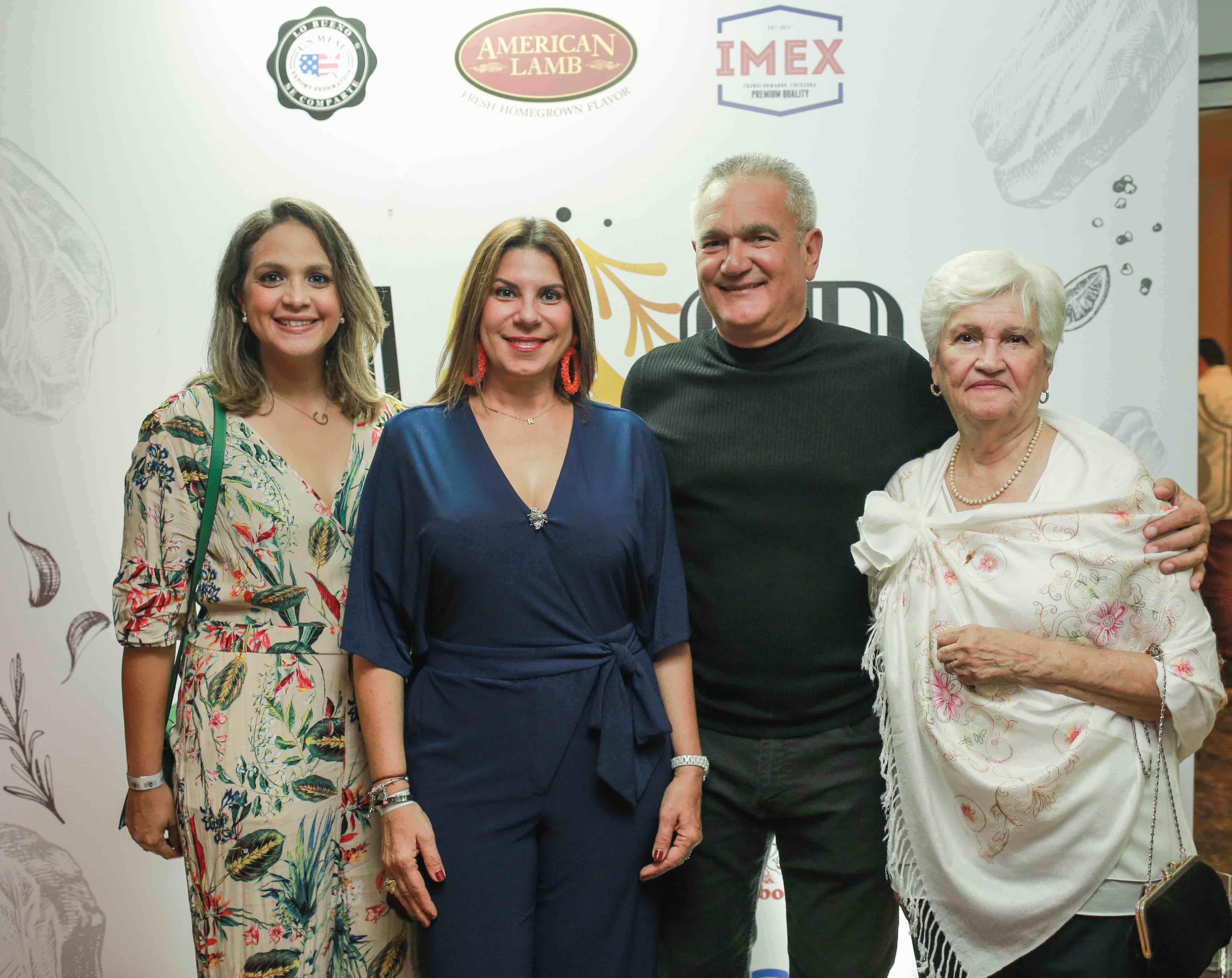 5. Grace Garrido, Rosin Valdez, Frank Valdez & Madga Pellerano
