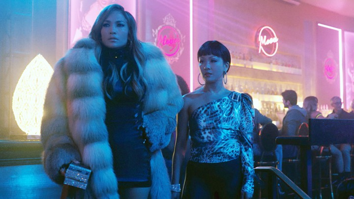 HUSTLERS, from left: Jennifer Lopez, Constance Wu, 2019. © STX Entertainment / courtesy Everett Collection