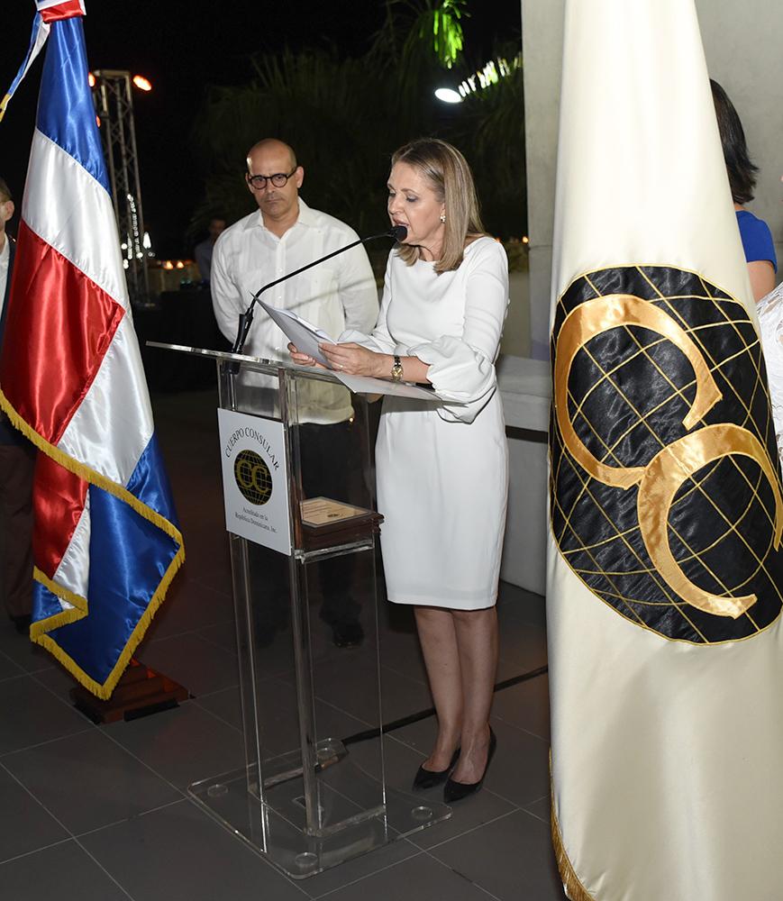 Clara Reid de Frankenberg-Decana del Cuerpo Consular