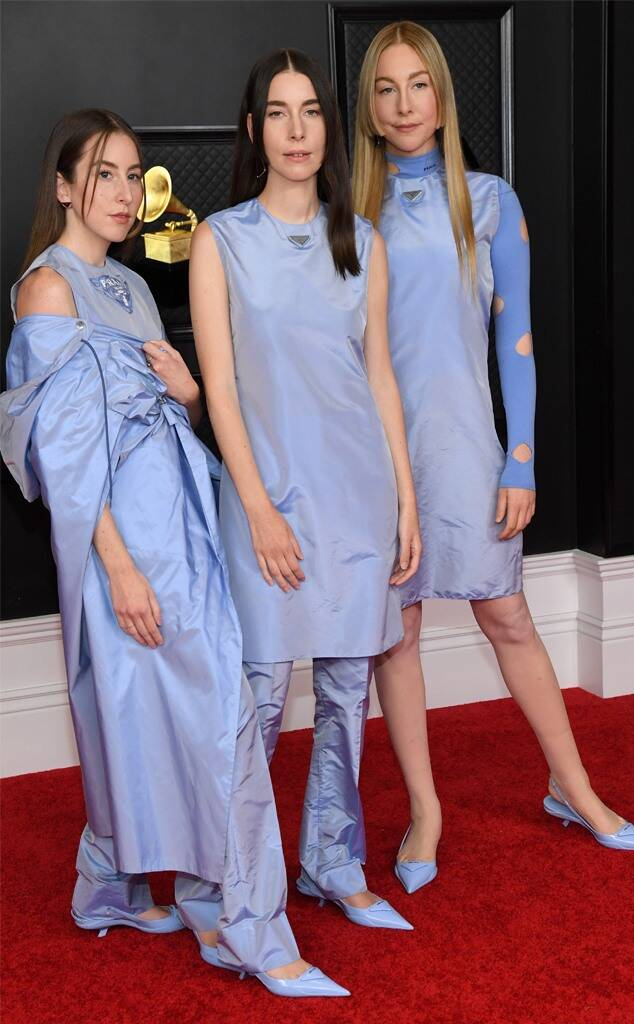 El trio Haim vestidas de Prada